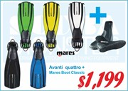Package Mares Fins and Boots